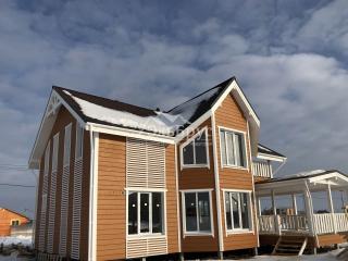 Каркасный дом в комплектации «С отделкой + Инженерный пакет» по проекту КД 034 в КП «Изумрудный Город»