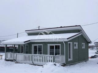 Каркасный дом по проекту КД 055 в комплектации «С отделкой + Инженерный пакет», в д. Донцо, СНТ «Заповедное»